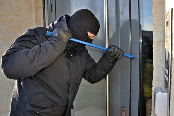 Einbrecher Haustür